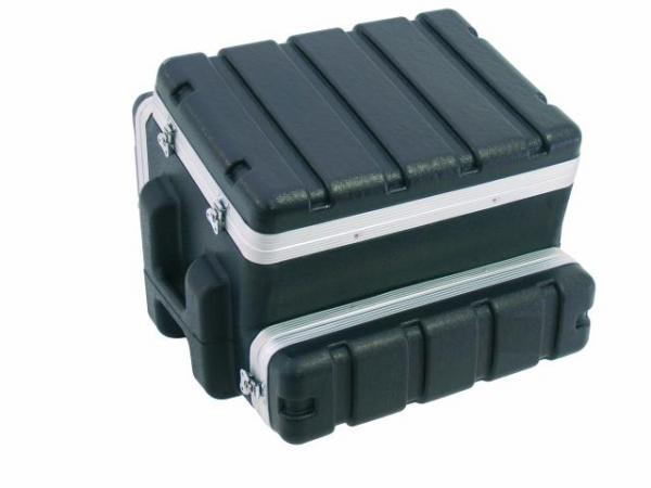 OMNITRONIC Combi case plastic 10/2/4 U, Professional hard-sided flight case for 483 mm units (19