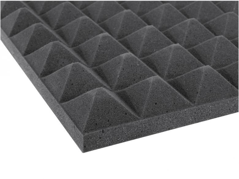 OMNITRONIC Akustiikka levy, malli pyramidi. Koko 50mmx 500x400mm. Acoustic foam pyramid 50mm 50 x 50cm.
