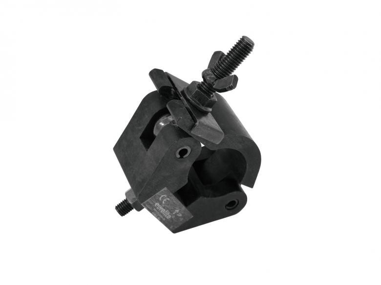 EUROLITE TPC-50S Alumiiniliitin 50mm putkelle, max kuorma 800kg, musta, mitat 150 x 115 x 55 mm sekä paino 0,7kg.