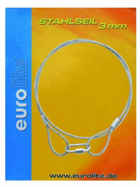 EUROLITE Steel rope 900x3mm silver