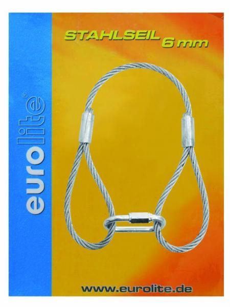 EUROLITE Steel rope 400x6mm silver