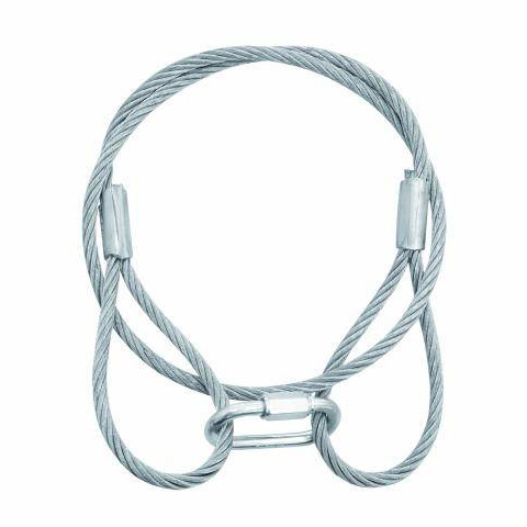 EUROLITE Steel rope 6mm x 900x silver with quick link