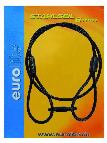EUROLITE Steel rope 900x6mm,black