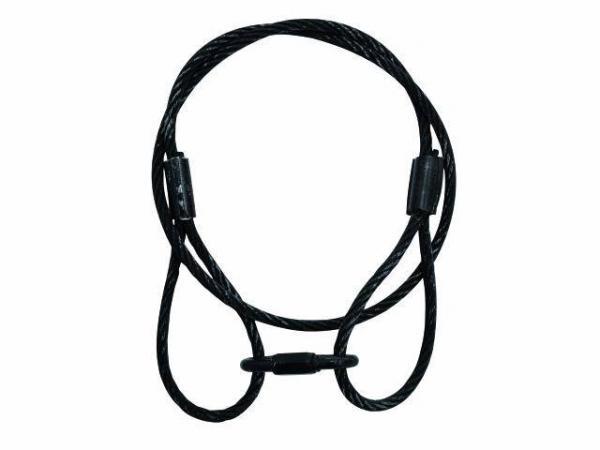 EUROLITE Steel rope 900x6mm,black, discoland.fi