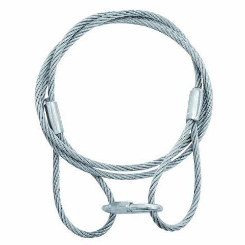 EUROLITE Steel rope 6mm x 1400mm silver , discoland.fi