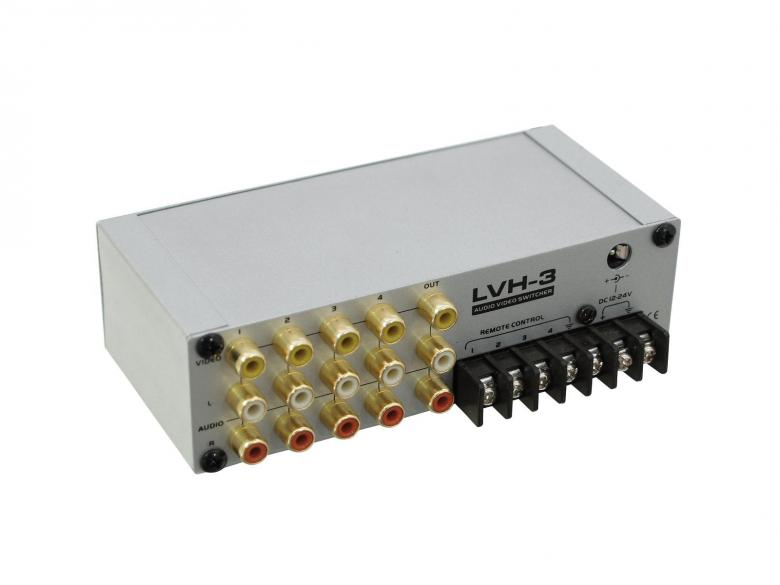 EUROLITE LVH-3 Audio- ja videokytkin