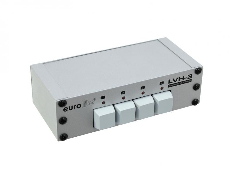 EUROLITE LVH-3 Audio- ja videokytkin, discoland.fi