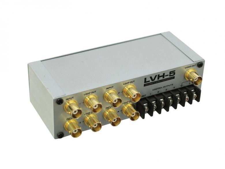 EUROLITE LVH-5 Automaattinen videokytkin 1 tulo 4 lähtöä