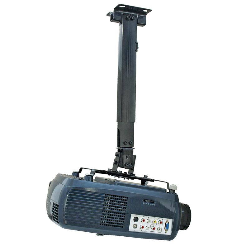 EUROLITE Projektoriteline, musta, 43-65cm säätöalue. Projector ceiling bracket PDH 43-65