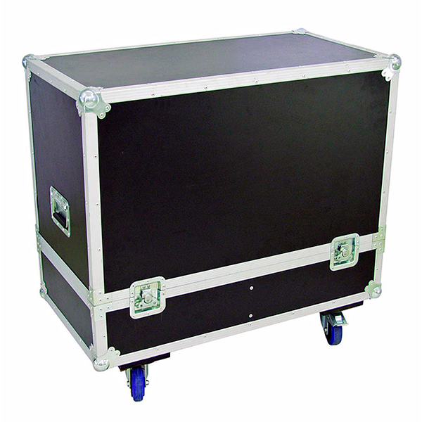 OMNITRONIC Kuljetuslaatikko kaiuttimille, varustettu pyörillä. Flightcase for 2x PAS-215. Professional flight case for 2 x PAS-215, with castors