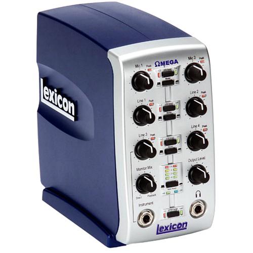 LEXICON OMEGA STUDIO interface äänikortti 2 x mic in, 4 x line in, instrument in, kuulokelähtö, stereolähtö!