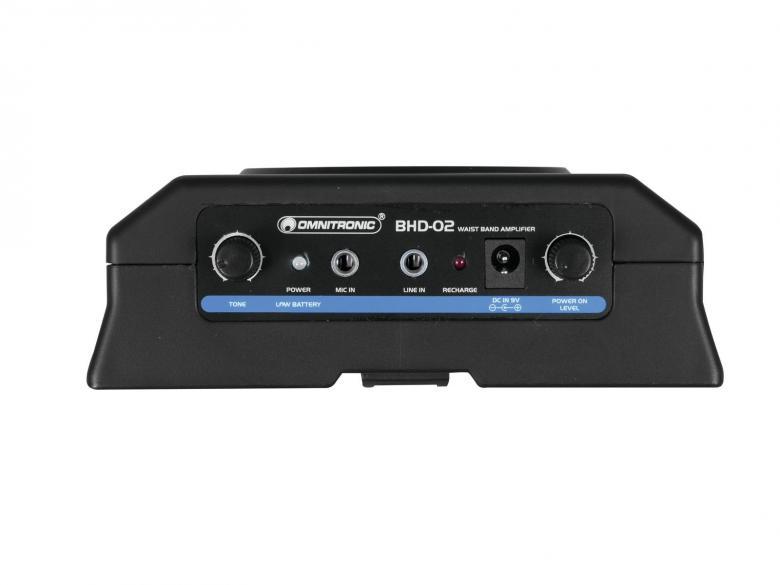 OMNITRONIC BHD-02 Paristoilla toimiva kaiutin+mikki 5W Vyötärökaiutin pääpantamikrofonilla, soveltuu esittelijöille sekä ohjaajille ja oppaille. Mitat 140 x 100 x 50 mm sekä paino 230 g.