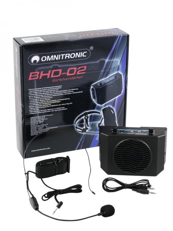 OMNITRONIC BHD-02 Paristoilla toimiva ka, discoland.fi