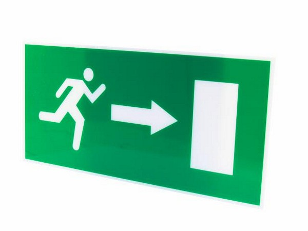 EUROLITE Pictogramm emergen. exit with arrow right