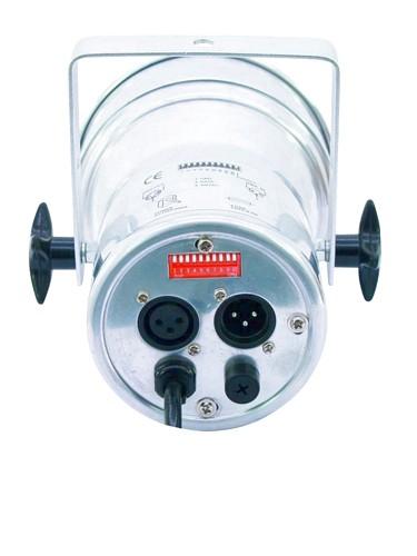 EUROLITE LED PAR-38 RGB Pieni LED par heitin,spot 25-30°, 75 x 10mm LEDs, 9W, Alu, The perfect little LED PAR Spot