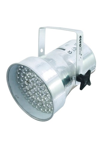 EUROLITE LED PAR-38 RGB Pieni LED par heitin,spot 25-30°, 75 x 10mm LEDs, 9W, Alu, The perfect little LED PAR Spot
