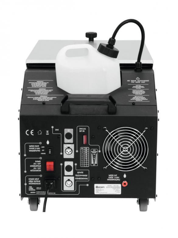ANTARI ICE-101 Matalasavukone, muodostaa lattiasavun normaalilla savunesteellä, vain jääkuutioita säiliöön. Mitat 660 x 355 x 359 mm sekä paino 25kg