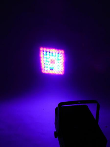 POISTO EUROLITE LED MAT-64 DMX LED projector with RGB patterns, LED Efektivalo. Loistavaa valotehoa uudessa hintaluokasa! Uudet LED efektit korvaavat perinteiset Flower efektin monipuolisuudellaan. Pitkä LEDien käyttöikä 50000- 100000 tuntia, ei lamppujen vaihtoa!