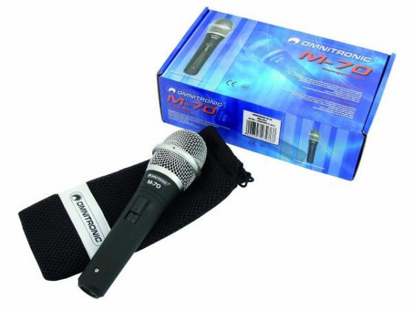 OMNITRONIC M-70 Dynaaminen, balansoitu, vocal microphone