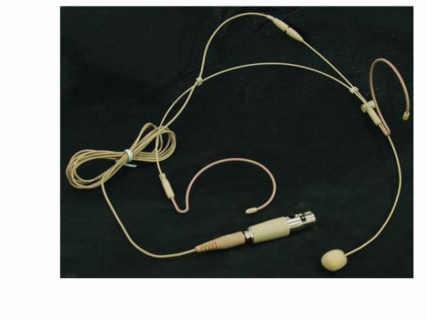 OMNITRONIC HS-1100 Päämikki Säänkestävä headset Vain 10g painava, Soveltuu Aerobic käyttöön, Langattomiin Radiomikrofoni järjestelmiin (taskulähettimeen), varustettu mini XLR liittimellä, 3-pin, Headset microphone/xlr