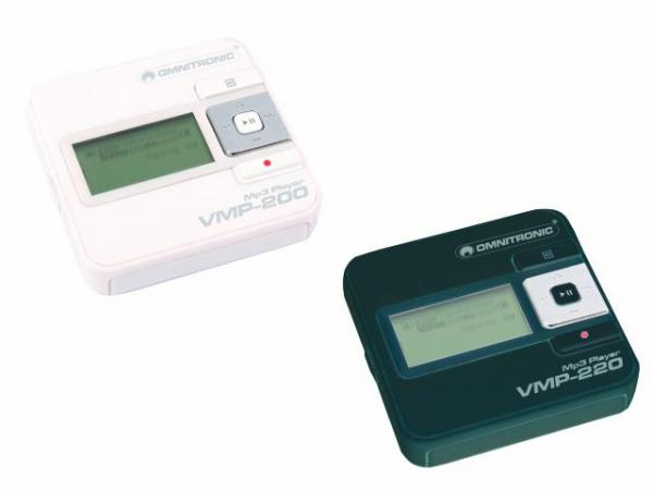 OMNITRONIC VMP-220 MP3-Player White, mitat vain 5,5x 5,5 cm