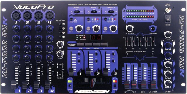 VOCOPRO KJ-7808RV Karaoke Mikseri DSP Ka, discoland.fi