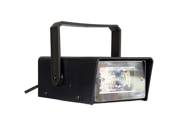 LIGHT4YOU Mini Strobe, 1- 10 välähdystä sekunnissa säädettävissä, kytke vain virta ja homma toimii