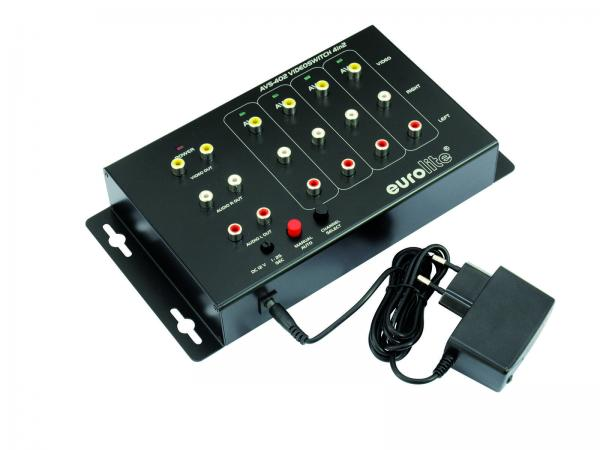 EUROLITE AVS-402 video switch 4in2, discoland.fi