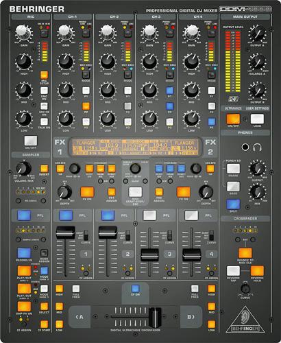 BEHRINGER DIGITAL PRO MIXER DDM4000 on ensiluokkainen digitaalinen 32-bittinen DJ mikseri monipuolisilla toiminnoilla, jotka ruokkivat luovuuttasi. Käyttö liittymä on todella helppo ja selkeä. Kytke levysoittimesi ja CD/MP3-soitin neljään stereokanavaan, joista löytyy kattavat ohjelmoitavat EQ:t sekä kill switchit. Voit maustaa musaasi monipuolisella efektimodulilla, joka voidaan BPM-synkata, ja villit miksaukset hoituvat digitaalisella crossfaderilla, jossa on säädettävä feidikäyrä. Loistava BPM-synkattu sampleri ja reaali- aikainen pitch-kontrolli sekä loop- ja reverse-toiminnot viimeistelevät DJ-elämyksen.