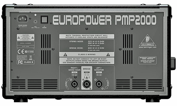 BEHRINGER EUROPOWER PMP2000 Mikserivahvistin 2x350W. Kompakti 2 x 350W stereomikserivahvistin (800W bridged). 14-kanavainen mikseriosio 6 mono- ja 4 stereokanavaa.Jos etsit laitteita, joilla saat tuotettua laadukkaan stereoäänen pieniin tapahtumiin? Tavoitteenaasi on varmastikin se, että joudut kantamaan mahdollisimman vähän laitteita. Tällaisissa tilanteissa Behringer PMP 2000 on mitä mainioin laite! Sisäänrakennetun efekti osion ja 800 watin tehon ansiosta mikserivahvistimessa on tarpeeksi jytyä toimimaan joko pää-äänentoistolaitteena tai monitorina. Mikserivahvistimessa on erilaisia kytkentämahdollisuuksia: 300 W stereona, 300 W dual-monona tai 800 W sillattuna. Mihin tahansa tarkoitukseen mikserivahvistinta sitten käytetäänkin – puheen tai pienen konsertin äänentoistoon, niin se hoitaa aina homman kotiin. Mitat 27 x 28 x 46 cm sekä paino 14,0kg.