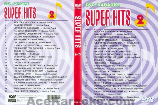 U-BEST Frank Sinatra, Super Hits English Songs Vol. 2 DVD Karaoke - Frank Sinatra