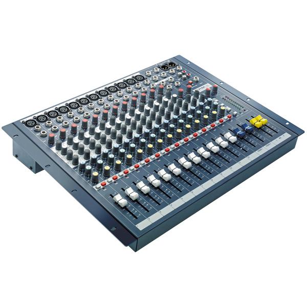 SOUNDCRAFT EPM12 12mic/ line tuloa, 2+ 1 stereotuloa, Laatua pienessä koossa. balansoidut XLR ulostulot. Sama GB30 mikrofoni etuvahvistin kuin isoissa GB-sarjan saliäänipöydissä.