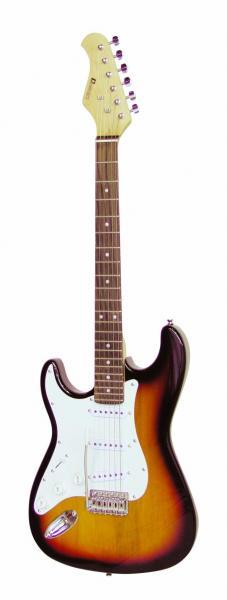 DIMAVERY ST-203 E-Guitar LH, sunburst, E, discoland.fi