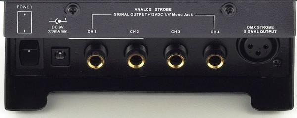 STAIRVILLE Strobe Master 1, 1x DMX/ 4x analog ohjain. Tällä laitteella teet strobosta kuin strobosta musiikkiohajutuvan! (0-10V tai DMX) Helppokäyttöinen ohjain yleisimmille strobo valoille.