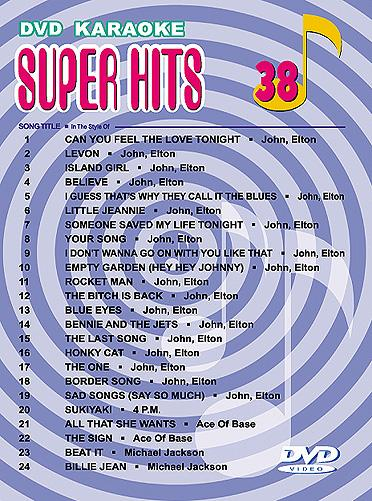 POISTO Super Hits English Songs Vol. 38 , discoland.fi