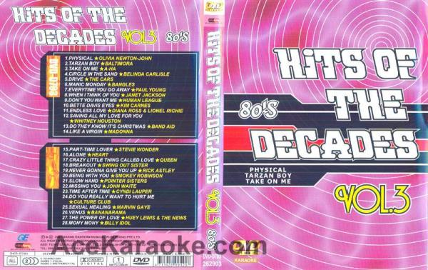 HITS OF THE DECADES 80- Luvun hitit VOL 3. DVD