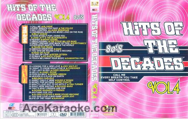 HITS OF THE DECADES 80- Luvun hitit VOL 4. DVD