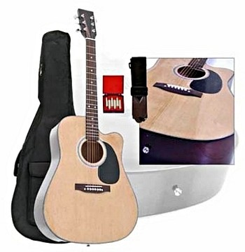 TJP Music Instruments Cutaway Guitar Nat, discoland.fi