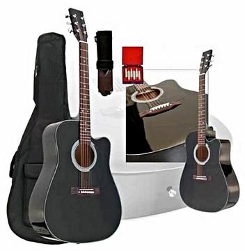 TJP Music Instruments Cutaway Guitar Bla, discoland.fi