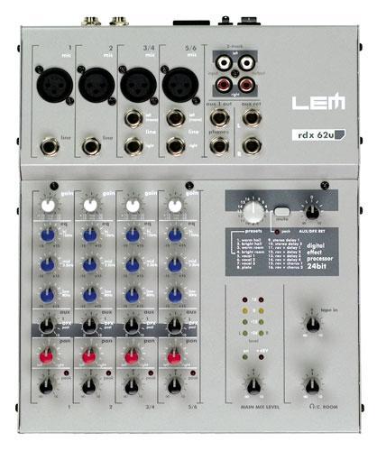 LEM AUDIO RDX 62U, mikseri, 2xmono+ 2x s, discoland.fi