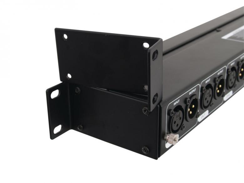 OMNITRONIC TS-8 linjaisolaattori-splitteri muuntaa RCA signaalin balansoiduksi XLR tai toisinpäin. Räkkikokoinen 8-kanavainen isolaattori. Mitat 483 x 115 x 45 mm sekä paino 2,0kg.