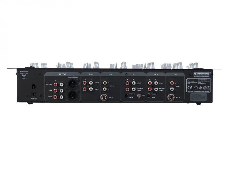 OMNITRONIC EMX-5 on 5-kanavainen DJ mikseri 19