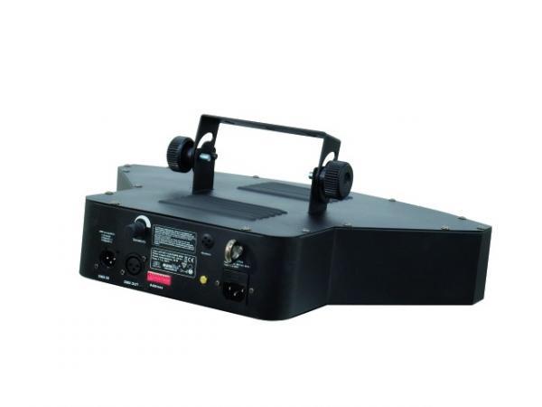 EUROLITE LED SCY-100 RGBW värit LEDeillä toimiva valoefekti. Seitsemän lasilinssiä, Master/ Slave voidaan kytkeä useita peräkkäin, 9-DMX kanavaa, Auto mode sekä musiikkiohjaus, RGB värien lisäksi valkoinen väri. Mitat 355 x 460 x 155 mm paino 4kg. Aukeamiskulma 150° sekä yksittäisissä ledeissä 15°.