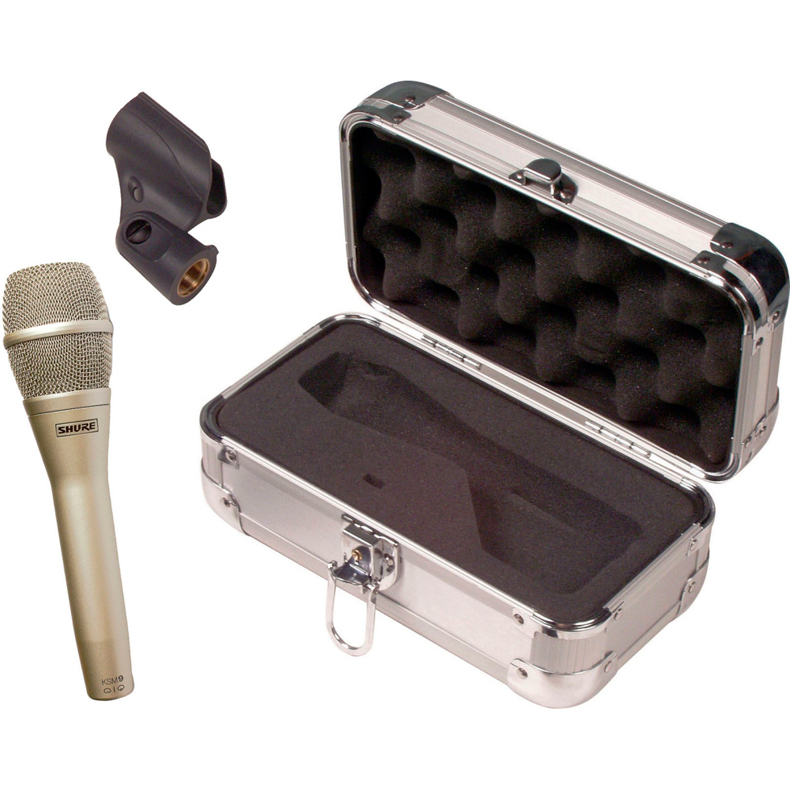 SHURE KSM9/SL Premium kondessaattori solistimikrofoni, hertta & s-hertta, 50Hz - 20kHz, 2,81 mV/Pa,  sampanja, ehkä maailman paras solistimikrofoni.