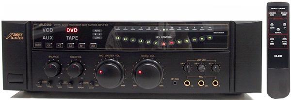 ACESONIC Thunder 360W All-In-One Mobile Karaoke System, Järjestelmä sis. AKJ7050 mikserivahvistin 2x 180W, DGX-106 DVD soitin, SP-R räkki 300W kaiuttimilla sekä kaapelit