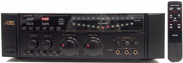ACESONIC Thunder 360W All-In-One Mobile Karaoke System, J�rjestelm� sis. AKJ7050 mikserivahvistin 2x 180W, DGX-106 DVD soitin, SP-R r�kki 300W kaiuttimilla sek� kaapelit