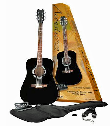 BEHRINGER ACOUSTIC GUITAR PACK GPKAGS 722BK, Musta Akustinen Kitara, Everything You Need to Play Acoustic Guitar!