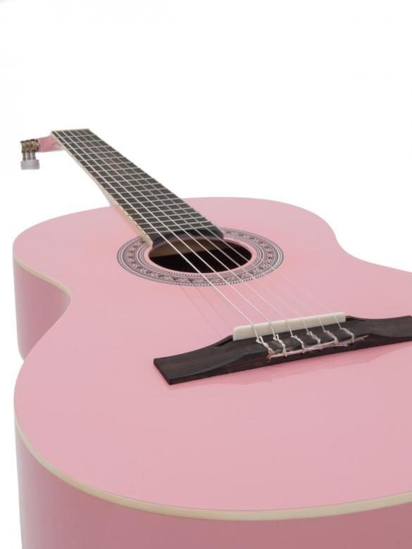 DIMAVERY AC-303 Klassinen akustinen kitara 4/4 nylonkielinen, vaaleanpuhnainen. Soveltuu loistavasti harraste soittimeksi tai ensimmäiseksi kitaraksi harjoitteluun!