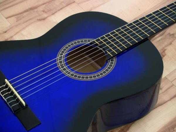 DIMAVERY AC-300 Klassinen Kitara, Classical Guitar 4/4, Spruce, Sininen, akustinen kitara