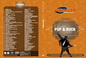 MELHOME Classic Pop Rock Vol 1 Karaoke DVD  Ammatti sekä Kotikäyttöön 50 kappaletta. 1. Bamboleo - Gipsy Kings  2. Movie Star - Harpo  3. No Milk Today - Herman's Hermits  4. He Ain't Heavy, He's My Brother - Hollies  5. Everyday - Buddy Holly 
